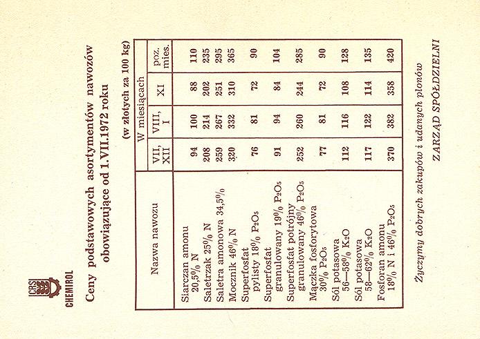 Cp 316Ao wydanie 18 z napisami CRS (rewers)