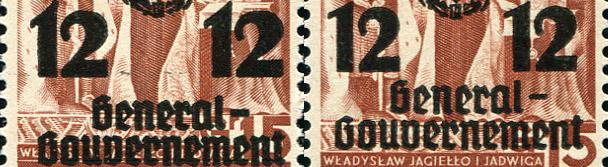 Odmiany znaczka GG33
